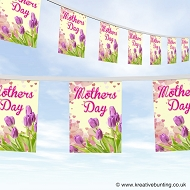 Mothers day bunting design 1 flowers